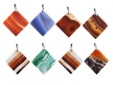Agate Pendants Set