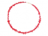 Coral bamboo necklace